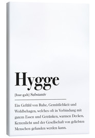 Leinwandbild  Hygge Definition - Johanna von Pulse of Art